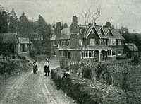 Sir Arthur Conan Doyle's home Undershaw, circa 1900.